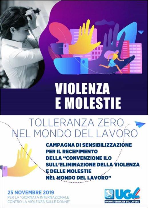 Ugl contro la violenza sulle donne