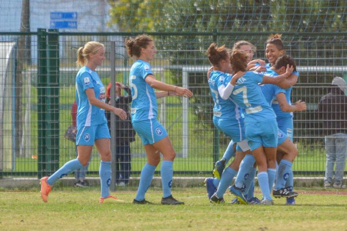 Napoli Calcio femminile: le azzurre ritrovano il sorriso