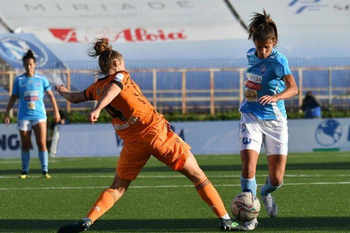 Napoli Calcio femminile: tanto cuore azzurro ma la vittoria è bianconera